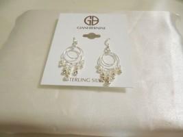 "Giani Bernini 1-3/4""Sterling Silver Crystal Dangle Circle Drop Earrings ... - $29.75"