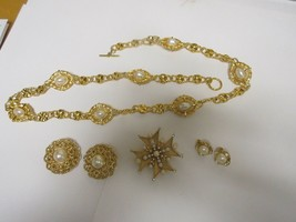 Costume Jewelry , Vintage , Anne Klein , Trifari , Neck, Ear , & Pin / Brooch - $74.25