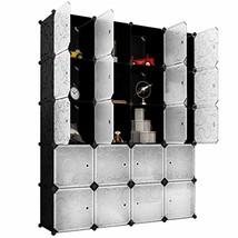 LANGRIA 20 Storage Cube Organizer Wardrobe Modular Closet Plastic Cabine... - $122.95