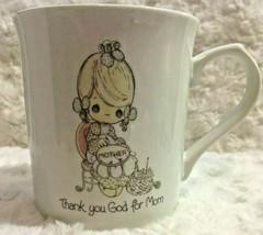 1986 Enesco Precious Moments Coffee Mug Cup Thank You God For Mom   - $19.34