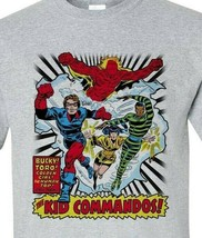 The Invaders Kid Commandos T-shirt vintage 1970's marvel comics silver age tee image 2