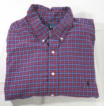 de443257b Ralph Lauren Plaid Long Sleeve Button Down Shirt Mens Tall Size 2XLT Red  Blue -  29.62
