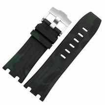 Green Camouflage Strap For Audemars Piguet Royal Oak Offshore Rubber Ban... - $24.70+