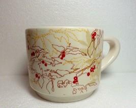 Starbucks 2009 Porcelain China  Coffee Mug 10 Ounce Coffee Bean Plant - $19.80