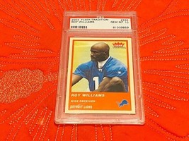 2004 Fleer Tradition #335 Roy Williams Rookie Card Graded PSA 10 - $10.00