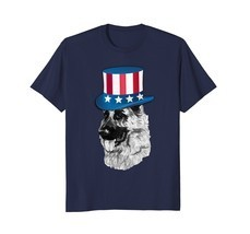 German Shepherd T Shirt - American Flag Hat 4th of July Dog - €15,85 EUR+