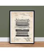TYPEWRITER VINTAGE TYPE WRITER SHOLES US PATENT PRINT 18X24 POSTER GIFT 1896 - $18.95