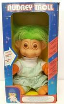 "Audrey Troll Doll Electronic Lights Up 10"" Vintage Original Box Green Go... - $49.49"