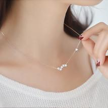 925 Sterling Silver Crystal Stars Necklaces & Pendant Statement Necklace... - $9.99