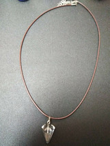 Natural Healing Clear Quartz Pendulum Necklace Women, Men Meditation B Valentine image 2