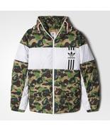 Adidas Originals Outlet Men ID96 Down Bape Jacket Camo Shark DS Hoodie B... - $449.99