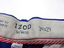 NOS w/ TAGS IZOD Saltwater Mazarine Blue Men's Straight Fit Pants Size W34 L29 image 8