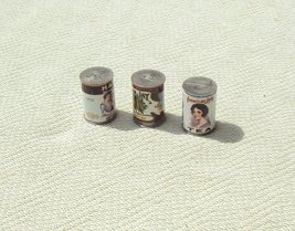 Miniature Food Can Container Set - Mini Doll House Collectible Accessori... - $7.55