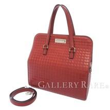 HERMES Waffle Rouge H Deutch 2Way Handbag Shoulder Bag France #G Authentic - $4,865.45