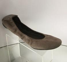 New Tory Burch Eddie Kid Suede Ballet Flats, Khaki (Size 7.5 M) - $119.95