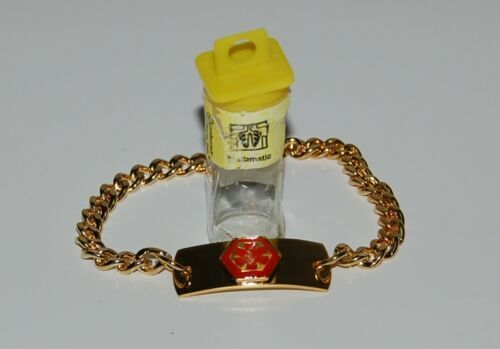 Apothecary Products 91219 Gold Color Asthmatic Medical Alert Bracelet
