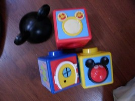 Disney Mickey Mouse Clubhouse Activity Blocks  12mo + stacking,learning - $4.94