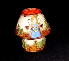 Candle Holder with Angel AB 677 Vintage 2 Piece image 2