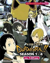 DURARARA!! Complete Season 1-4 Boxset (1-61) English Dubbed SHIP FROM USA