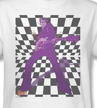 Elvis Presley T-shirt retro vintage classic rock 100% cotton white tee ELV595 image 1