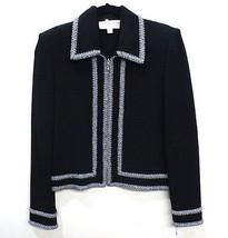 ST. JOHN COLLECTION Black Jacket with Black & White/Gray Trim  Sz 8 $1295 - $311.97