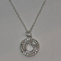 "Le Vieux Silver Plated Swarovski Crystal Pendant Necklace 18"" - $17.50"