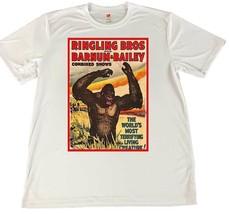 Ringling Brothers Circus Garganutua Ape Wicking T-Shirt w Flag Car Coaster - $14.80+