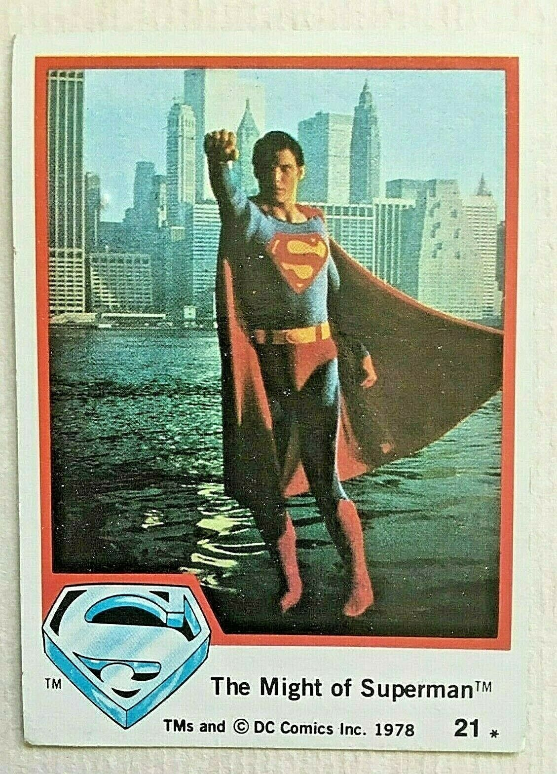 Topps 1978 Superman The Movie Trading Cards: #21 The Might of Superman - $9.50