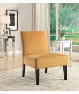 Ave Six Laguna Armless Lounge Accent Chair Orange BUTTERNUT Fabric - $134.99