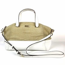Kate Spade Women's Purse Leather Tan White Shoulder Bag Handbag - $60.79