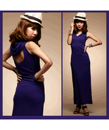 Violet Open Back Casual Sleeveless Hoodie Tank Dress for Comfort Wear - $73.95