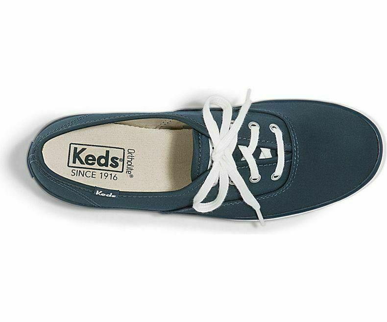 Keds WF58938 Womens shoes Champion Sateen Dark Green, 9 Med