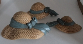 Vintage Burwood Product Co. Plastic Straw Hat Wall Decor - $10.00