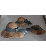 Vintage Burwood Product Co. Plastic Straw Hat Wall Decor - $10.00