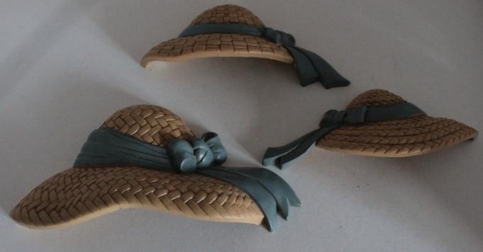 Vintage Burwood Product Co. Plastic Straw Hat Wall Decor