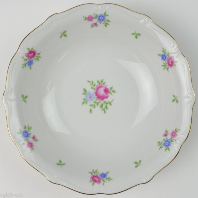Forest China Rambler Pattern Coupe Soup Bowl Blue Pink Floral Flower Tableware