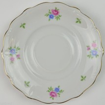 Forest China Rambler Pattern Footed Cup Saucer Floral Flower Pink Blue B... - $3.99