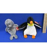 TY Beanie Babies Plush Original Stuffed Animal 1995 Waddle & 1998 Slippe... - $12.22
