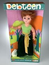 "1968 Uneeda Doll Debteen Walking Doll 19"" Green Velvet Dress Red Hair RARE - $79.19"