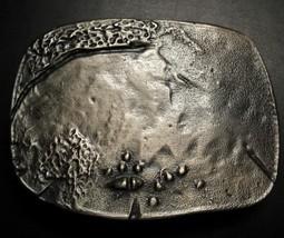 Abstract Design Belt Buckle Interpretation of Low Tide? Moonscape? Ocean Floor? - $8.99