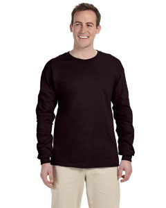Dark Heather 2XL Long sleeve Gildan ultra cotton T-shirt 2400 G240 G2400