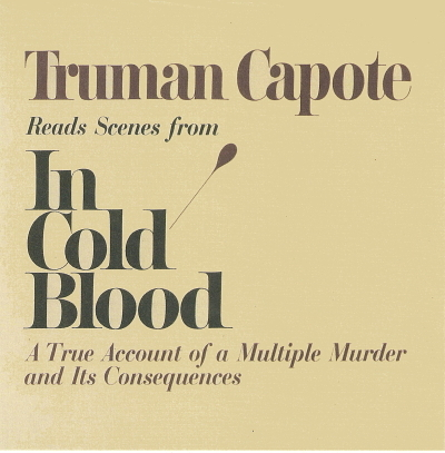 Truman capote reads in cold blood front cover only no logo