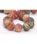 4mm Natural Matte Picasso Jasper Beads Grade Round Loose Beads 7.5'' Cra... - $14.64
