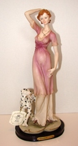 Stunning Stylish Woman of 1930's Ceramic on Wood Base from Giovanni Coll... - $80.00