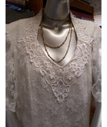Vintage Tea Length SIZE 20 Jodi Scott York White Lace Wedding Dress or P... - $69.99