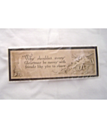 Vintage Christmas Card Book Mark - $9.95