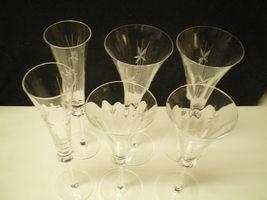 6 MIKASA FIRST LOVE STEMWARE~~3 SIZES~~2 FLUTES~2 RED WINE~2 WHITE WINE~... - $99.95