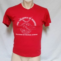 VTG 80s Special Olympics T Shirt Sports Tour Tee Children Hospital Rights Medium - $19.99
