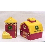 John Deere Barn & Silo Farm S&Ps Salt & Pepper ... - $14.95