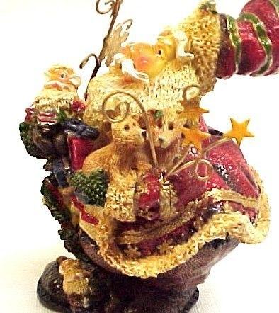Holiday by Kirkland's Fancy Santa Claus Figurine NIB